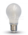 6W E27 LED žarulja filament frost cover V-TAC